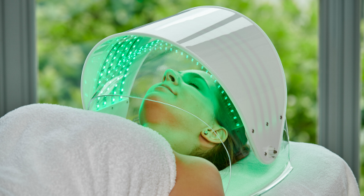 """Dermio Top Head"" negative ion oxygen therapy for the face + light phototherapy"